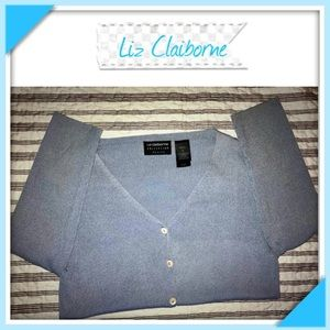 Liz Claiborne silk blend cardigan